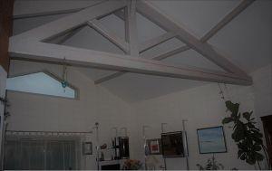 Plafond tendu à froid mat-blanc