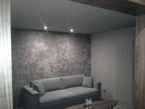 Plafond tendu à froid mat taupe