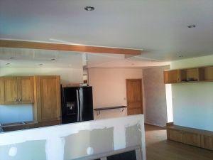 Plafond tendu laque-blanc salon satin