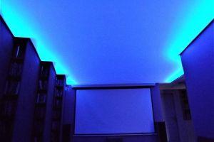 Plafond tendu rétro éclaire bordure
