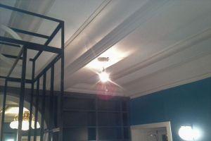 Plafond tendu acoustique mat blanc