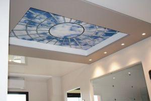 Bureau plafond tendu toile imprimée