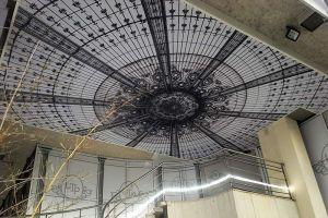 Bureau plafond tendu toile imprimée rétro éclaire