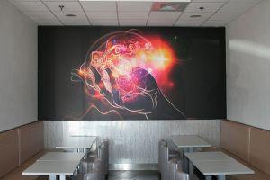 Plafond tendu toile murale imprimée