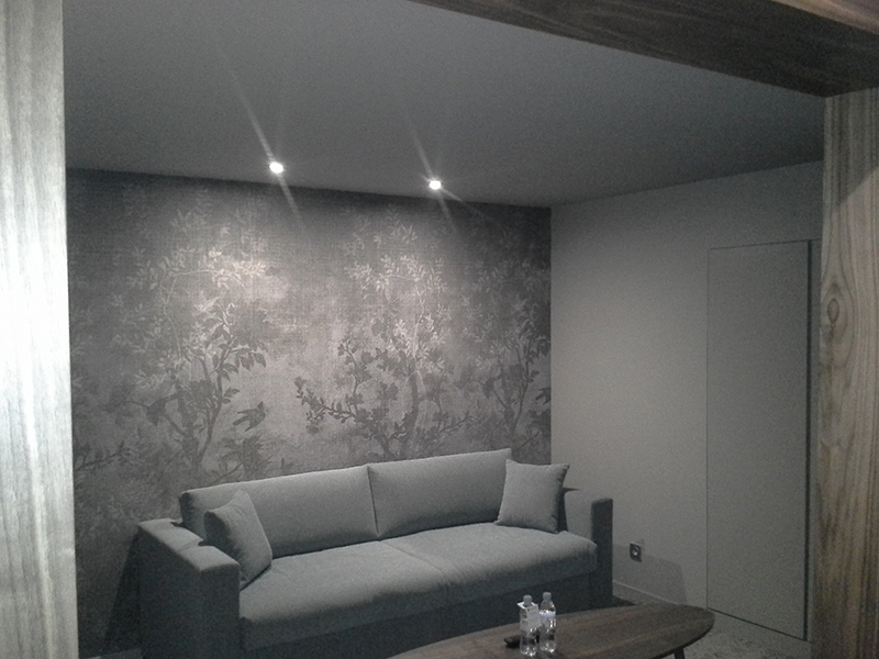 toile tendue plafond latest eglise en plafond tendu barrisol montreal with toile tendue plafond. Black Bedroom Furniture Sets. Home Design Ideas